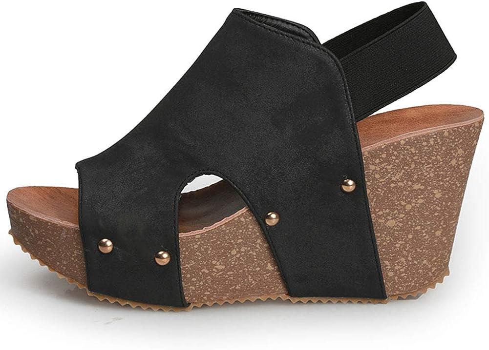 Vimisaoi Women's Ranking TOP5 Vintage High Beauty products Heel Bohem Platform Sandals Wedge
