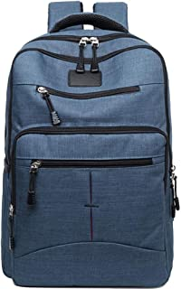 CHENDX Handbags Fashion Casual Men and Women Computer Bag Business Briefcase Travel Canvas Large Capacity Boarding Backpack (Color : Blue, Size : 42cm*29cm*10cm)