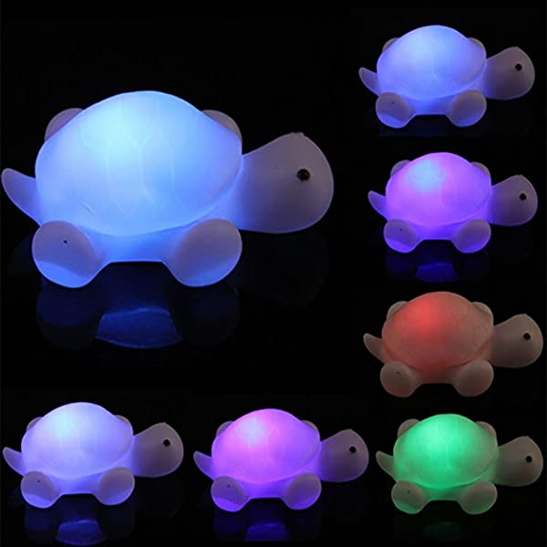 Vacally LED Light 1 Pc LED 7 Colours Changing Night Light Lamp Party Colorful For Bedroom Lovely Light For Kids