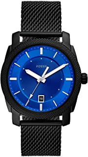 Fossil Machine Men's Blue Dial Stainless Steel Analog Watch - FS5694