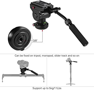 DP-iot Video Camera Tripod Fluid Dragging Action Pan Head Hydraulic Panoramic Photographic Head for Canon Camera