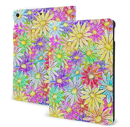 Palm Leaf Leaves Seamless Pattern Case for iPad Air 3rd Gen 10.5' 2019 / iPad Pro 10.5' 2017 Multi-Angle Folio Stand Auto Sleep/Wake for iPad 10.5 Inch Tablet