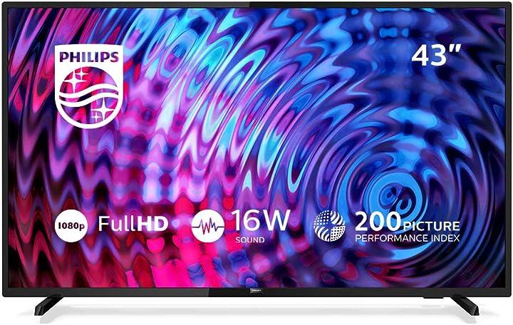 Tv led 43 pollici philips 5500 series full hd ultra sottile 43pfs5503/12