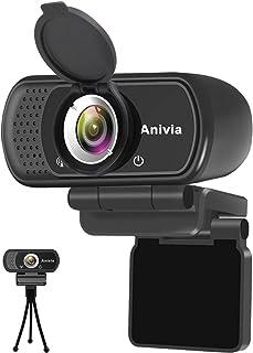 Webcam Full HD 1080p autofoco portátil Webcam micrófono Incorporado Sonido estéreo Dual Flexible Giratorio Clip Mini Plug ...