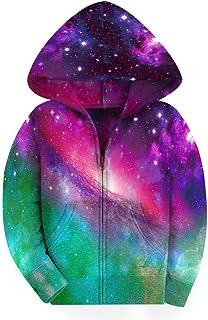 SAYM Big Girls' Youth Galaxy Teen Fleece Full Zip Jackets Pullover Hoodies