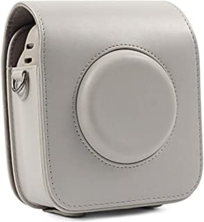 CAIUL Compatibile Square SQ10 Fotocamera Ibrida Istantanea Camera Custodia con Materiale in Pelle Morbida PU Marrone