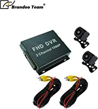 2 Channel 1080P HD Mobile DVR Kit for Truck and Taxi CCTV Used Mini Wide View Waterproof Camera