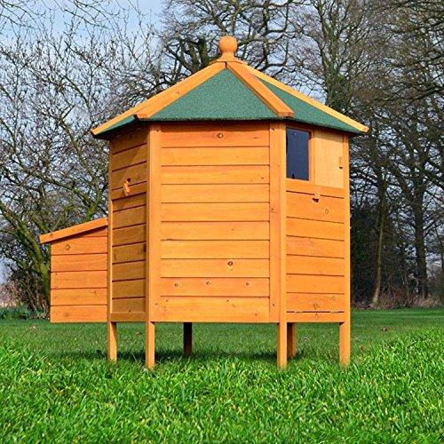 """ZooPrimus Hühner-Stall Nr 28 Geflügel-Voliere """"HÜHNER-PAVILLON"""" Enten-Haus für Außenbereich (Geeignet für Kleintiere: Hühner, Geflügel, Vögel, Enten usw.)"""