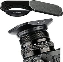 JJC Bayonet Square Metal Lens Hood Shade for Fuji Fujifilm Fujinon XF 35mm F2 & 23mm F2 Lens on X-T3 XT3 X-H1 X-Pro2 X-Pro1 X-T2 X-T1 X-T20 X-T10 X-E3 X-T100 as LH-XF35-2, ABS Slide-in Hood Cap Black