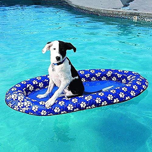 Vercico Hund Floatie, Aufblasbarer Hundepoolschwimmer Schwimmfloß für Erwachsene Hunde und Welpen