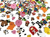 'Playscene' Self Adhesive Craft Stickers, Carnival, Planets, Farm Animals, Princess Themed Stickers (500 Piece Party Packs) (Farm)