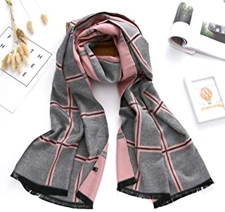 Scarf Scarfs Women Winter Scarf Cotton Scarves for Women Shawls and Wraps Plaid Thick Warm Soft Oversized Blanket Echarpe Femme (Color : Grey)
