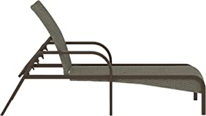 COSCO Outdoor Living SmartWick Chaise Lounger, Warm Gray