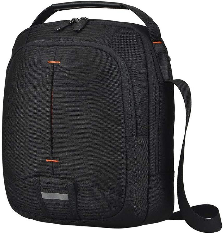 HUYANNABAO Fashion One Shoulder Messenger Bag for Men Youth Boys Versatile Causal Bag Small Flap Black Waterproof