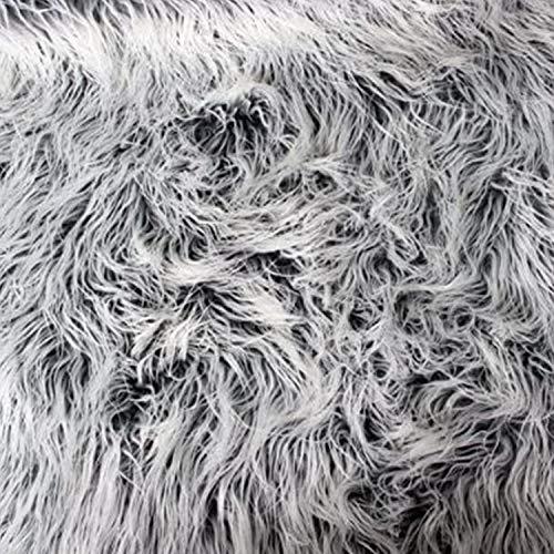Mongolischer Kunstpelz, 147,3 cm breit x 91,4 cm lang (grauer Frost)
