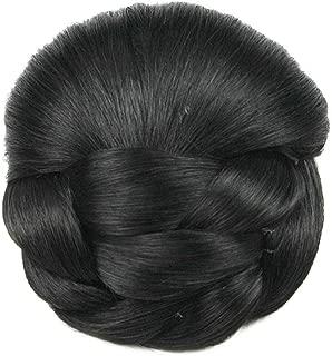 USIX Braided Bun Hair Piece Updo Braided Hair Bun Braided Chignon Hairpiece with Built-in Combs for Women Girls Party Wedding Dancing Hairdos Costume Hair Accessory (2)
