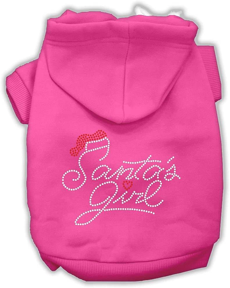 New mail order Santas Girl Rhinestone OFFicial shop Dog Hoodie Pink Bright 10 S