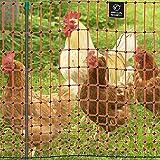 """VOSS.farming Malla eléctrica para gallinas """"farmNET"""", Rollo de 50m de Longitud y 112cm de Altura, 16 Postes con Punta Doble"""