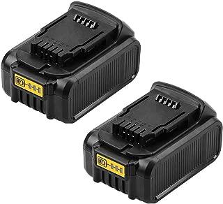 Moticett Replacement for Dewalt 20V Battery Lithium Ion MAX DCB180 DCB200 DCB203 DCB204 DCB205 DCB205-2 DCB206 Cordless Power Tool -2Packs
