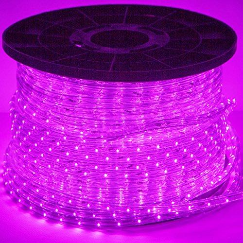 LED Lichterschlauch Lichtschlauch Lichterkette Licht Leiste Xmas Schlauch für Innen und Außen-Bereich - 1m, Meterware - Pink