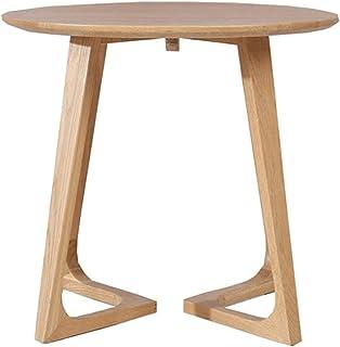 Table de salle à manger de bureau, table en bois massif naturel - table simple robuste (Color : Beige, Size : 60 * 60 * 55CM)