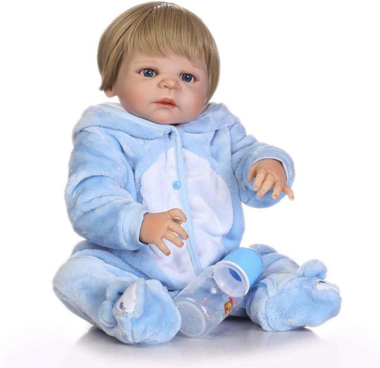 QXMEI 22-Zoll Baby Boy Puppe Silikon Neugeborenen Baby Geburtstagsgeschenk Dummy 57 cm