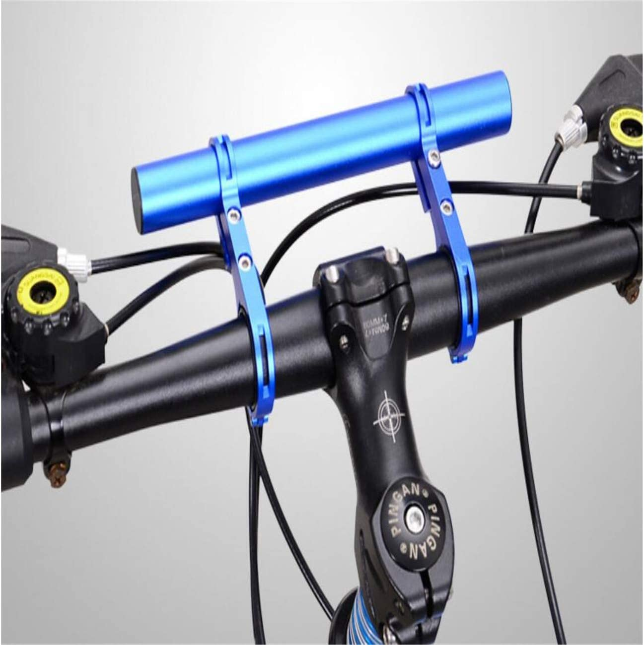 AXIONG Black 4 inches Bike Handlebar Extender Aluminum Alloy Bicycle Handlebar Extension for Holding Speedometer Flashlight Cell Phone Mount Holder There is Also a Chain Cleaning Brush Inside