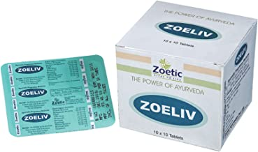 Zoetic Zoeliv, 10 Capsules - Power of Ayurveda (Pack of 3, 30 Caps)