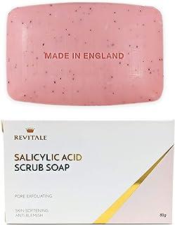 Jabón exfoliante con ácido salicílico poro exfoliante,