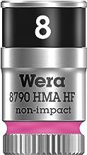 """Wera 05003723001 8790 HMA HF nasadka na klucz nasadowy Zyklop z napędem 1/4"""" z funkcją uchwytu, 8,0 mm, jaskraworóżowy"""