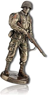 mySimpleProduct.Shop US United States of America American Soldier Army Troop Warrior Fighter Protector Guardian Savior Honor Courage Brave Freedom Holding Gun Statue Figurine Sculpture + Certificate
