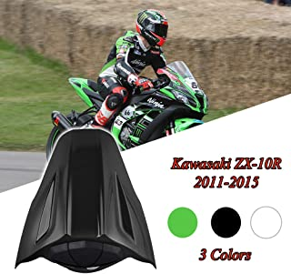 FATExpress Motorcycle Aftermarket Plastic Rear Passenger Pillion Solo Seat Cowl Hard ABS Motor Fairing Tail Cover for 2010-2015 Kawasaki Ninja ZX10R ZX-10R ZX 10R 2011 2012 2013 2014 10-15 (Black)