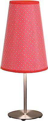 Amazon.com: Simple Designs Sand Nickel Mini Basic Lámpara de ...