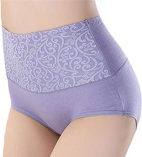 MU2M Women Cotton Plus Size High Rise Underwear Underpants Briefs