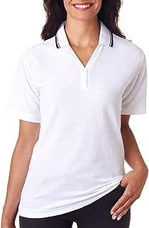 Ladies' Tipped Collar Whisper Piqué Polo Shirt