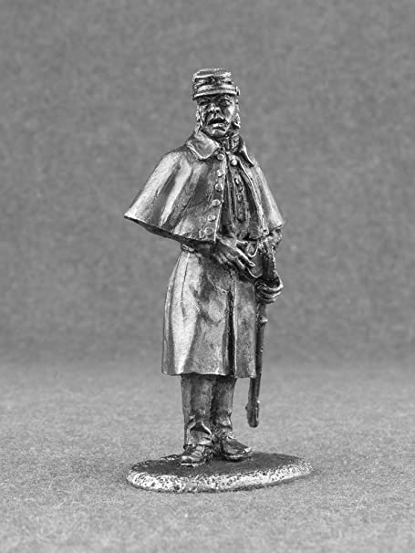Painted Tin Toy Soldier Confederate Gunner #1 54mm 1//32 Miniature