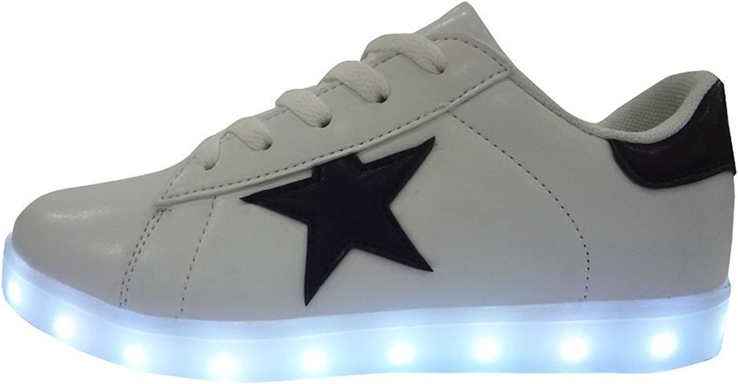 Reinhar Fashionable Unisex Adults Led shoes for Men Women Light Up Sneakers Lace-up Flats
