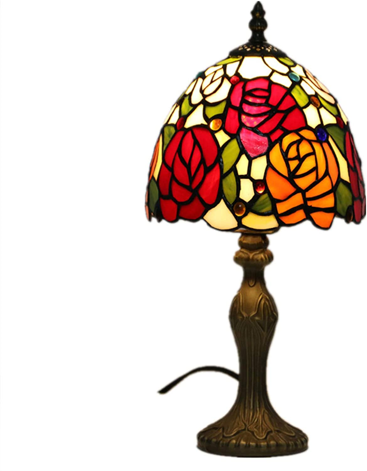 WZZ Tiffany Table Lamps for Online limited product Living Seasonal Wrap Introduction Besi Desk 7.8Inch Room