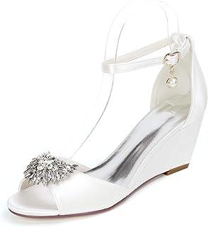 LGYKUMEG Femme Chaussures de Mariee Mariage Soiree Strass Asakuchi women's wedding shoes Femmes Chaussures Mode Plateforme...