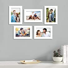 Art Street and Painting Mantra Unite Set of 5 Individual Photo Frame/Wall Hanging for Home Décor - White