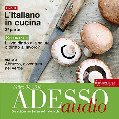 ADESSO audio - L'italiano in cucina 2. 3/2013 Titelbild