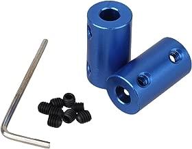 BQLZR Argento da 10mm a 10mm ID 35mm Lunghezza 45# Acciaio rotante per Albero motore Giunto universale Giunto connettore con viti a Testa esagonale