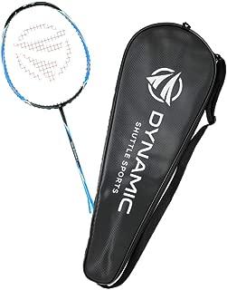 Dynamic Shuttle Sports Titan G-Force 7 Professional Carbon Fiber Badminton Racquet, Lightweight Badminton Racket Including Cover