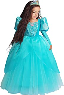 Belle Costumes Dress Up Party Girls Princess Cosplay Halloween Kids Ball Gown 2-13Years