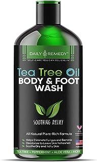 Daily Remedy Tea Tree Oil Body Wash - Natural Antifungal, Antibacterial Soap For Skin Irritations, Bacteria, Fungus, Athle...
