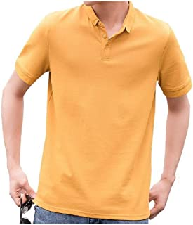 Comaba Men's Tailored Fit Polo Sports Short Sleeve T-Shirt Top Stylish Shirt
