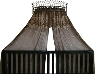 OctoRose Metal Crown Wall Sculptures Teester Bed Canopy Drapery Hardware Over Bed or Window (Bronze(31.5