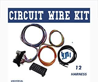 Autoday Wiring Harness Kit 12 Circuit Hot Rod Universal Wiring Harness Muscle Car Street Rod XL Wires