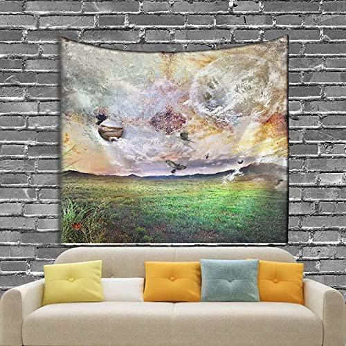 KHKJ Dibujos Animados Hermoso Universo Planeta Tapiz de Fondo Impreso Colgante de Pared decoración de Pared Tapiz Alfombra de Playa A2 150x130cm
