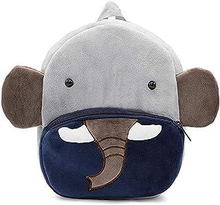 FLORICA Toddler Kids Backpacks Cartoon Cute Animal Plush Backpack Toddler Mini School Bag for Little Girls Boys Kids (Elephant)